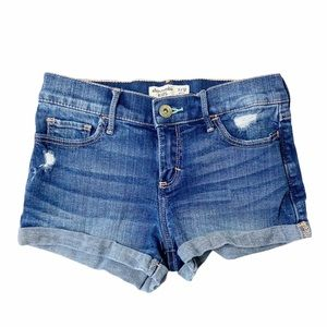 Abercrombie 11/12 distressed Jean shorts